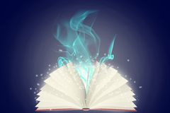 Colorful open book Stock Photo