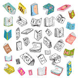Colorful Open Books Drawing Library Big Collection Stock Images