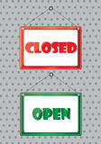 Colorful Open and closed symbol illustration Royalty Free Stock Image