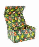 Colorful open gift box Stock Images