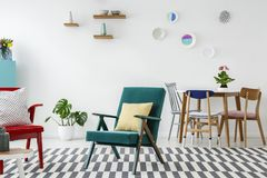 Colorful open space interior Stock Images