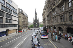 :  Vintage sightseeing bus in Edinburgh Royalty Free Stock Images
