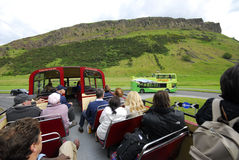 Vintage sightseeing bus in Edinburgh Stock Photography
