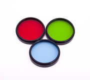 Colorful optical lens Stock Photos