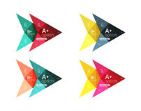 Colorful  option banner arrow templates, infographic layouts. Colorful  option banner arrow templates, infographic backgrounds set for workflow layout, diagram Royalty Free Stock Photo