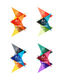 Colorful  option banner arrow templates, infographic layouts Royalty Free Stock Photography