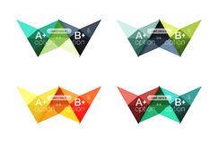Colorful  option banner arrow templates, infographic layouts Royalty Free Stock Images