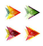 Colorful  option banner arrow templates, infographic layouts Royalty Free Stock Photos