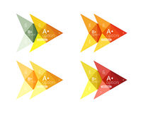 Colorful  option banner arrow templates, infographic layouts Royalty Free Stock Image