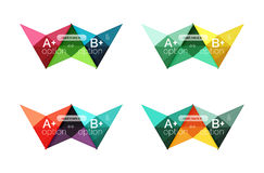 Colorful  option banner arrow templates, infographic layouts. Colorful  option banner arrow templates, infographic backgrounds set for workflow layout, diagram Royalty Free Stock Image