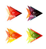 Colorful  option banner arrow templates, infographic layouts Stock Photos