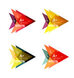 Colorful  option banner arrow templates, infographic layouts Stock Images