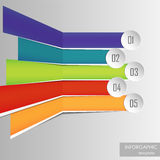 Colorful option banner template Royalty Free Stock Images