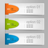 Colorful options banner template. Stock Image