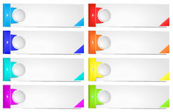 Colorful options banner template. Stock Images