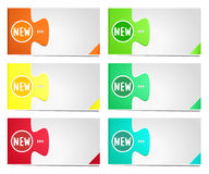 Colorful options banner template. Stock Photography