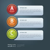 Colorful Options Banner Template. Royalty Free Stock Images