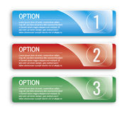 Colorful options banners Royalty Free Stock Photos