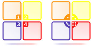 Set of Colorful Four Options Template Stock Photography