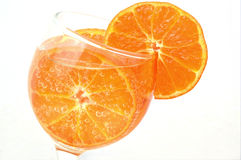 Colorful orange with air bubbles Stock Photos