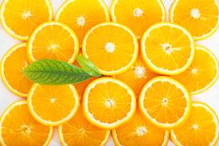 Colorful orange citrus fruit slices. Background Stock Photography
