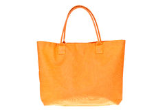 Colorful orange cotton bag Royalty Free Stock Photography