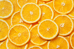 Colorful orange fruit slices Stock Images