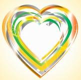 Colorful orange Valentine background. Colorful Valentine background with heart Stock Photography