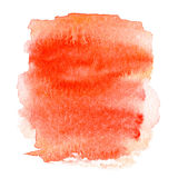Colorful orange wet  spot, watercolor abstract hand painted text Royalty Free Stock Image