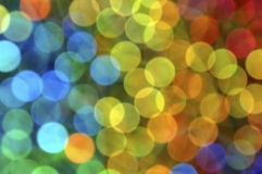 Colorful Orbs. Colorful bokeh or blurred light abstract stock image
