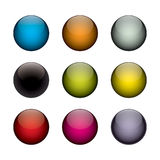Colorful orbs. An arrangement of colorful vector orbs / circles that look just like buttons, planets, or even jelly beans Royalty Free Stock Photography