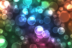 Colorful orbs of light. In soft focus Stock Images