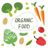 Colorful organic food collection Royalty Free Stock Photos