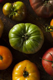 Colorful Organic Heirloom Tomatoes Royalty Free Stock Images