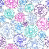 Colorful organic rounds. Handdrawn abstract background with cells. Vector seamless pattern. Colorful organic rounds. Stylish structure of natural cells. Hand stock illustration