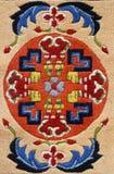 Colorful oriental carpet stock images