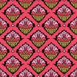 Colorful oriental damask wallpaper stock illustration