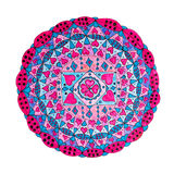 Colorful oriental decorative hand drawn mandala pattern royalty free stock photos