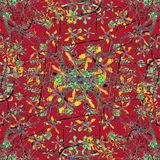 Colorful Oriental Floral Motif Royalty Free Stock Images
