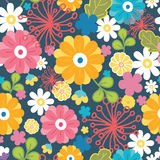 Colorful oriental flowers seamless pattern Stock Image
