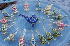 Colorful oriental oil lamps Stock Image
