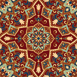 Colorful oriental ornament. Colorful oriental ornament of mandalas. Template for the shawl, carpet, textile and other surfaces Royalty Free Stock Images
