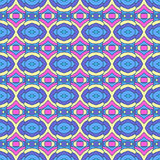 Colorful oriental pattern, seamless wallpaper Royalty Free Stock Images