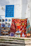 Colorful oriental pottery bazaar (Tunisia) Stock Photography