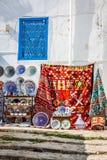 Colorful oriental pottery bazaar (Tunisia) Stock Photography