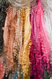 Colorful oriental scarves Stock Images