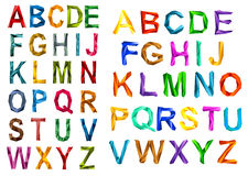 Colorful origami alphabet letters sets Stock Image
