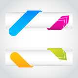 Colorful origami arrow banners Royalty Free Stock Photos