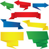 Colorful  origami arrow Royalty Free Stock Image