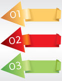 Colorful Origami Banner. Colorful Origami Banner Template Vector.EPS10 royalty free illustration